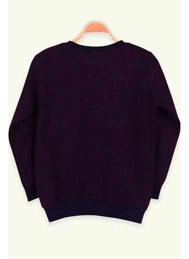 Breeze Erkek Çocuk Sweatshirt Armalı Bordo (5-10 Yaş) Bordo